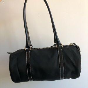 Prada Bags - Prada Nylon Black Handbag ZIP Double Handles
